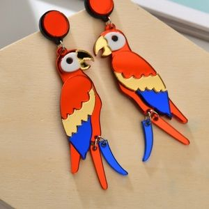 Parrot Acrylic Earrings